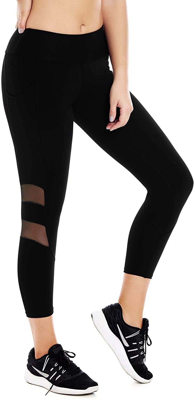 CHAMELA Active Cropped Leggings Black S M L XL REF  CHA22969