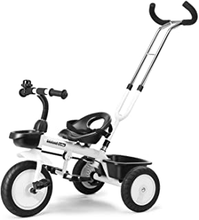 WELSPO 3 in-1 Kids Tricycles, Easy Steer Toddler Tricycle for 1-5 Years Old Kids Trike with Safety Seat, Storage Basket, F...