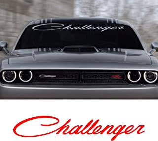 For Dodge Challenger Windshield Decal 1PCS (RED)