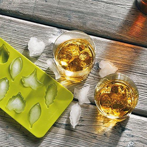 Bohemia Cristal - Juego de 2 vasos de whisky con forma de silicona para cubitos de hielo, vainilla Season tuufan Ice Set
