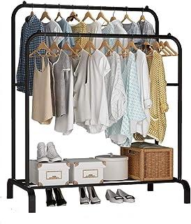 Lukzer Metal 1PC Garment Rack with Bottom Shelf/Coat Jacket Hanger for Home Bedroom Storage Organizer, Unique Display Stan...
