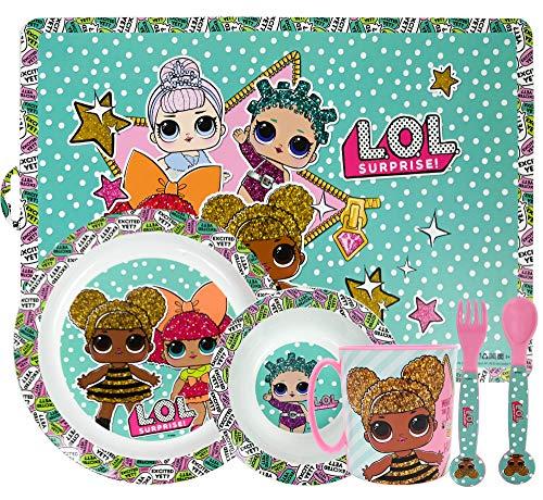ML Set de Vajilla Infantil LOL para niño y niña. 6 Piezas:...