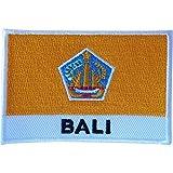 Baliflagge-Flicken zum Aufnähen auf Stoff Jacken Jeans Hemd Tasche, bestickter Indonesien-Badge
