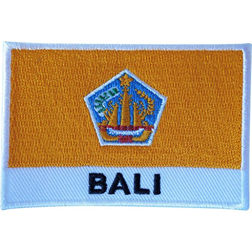 Bali bandera parche sew gamuza chaqueta Jeans camisa