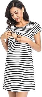 Ritera Embarazadas Vestido Premama Lactancia Vestido De Lactancia Femenino con Correa Multi Funcional,M-XXL