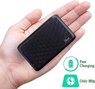 Power Bank 10000mAh Cargador Portátil con Gran Capacidad y Doble Salida USB (5V / 2.4A) para IPhone/Samsung/Tablets Batería Externa de Carga de Alta Velocidad Pequeña y Liviana para Trabajas Viajas