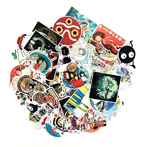 RSZHHL Sticker de Carro 100 Uds Pegatinas de Spirited Away para niños Maleta de Dibujos Animados portátil Motocicleta Coche Scrapbooking monopatín Pegatina
