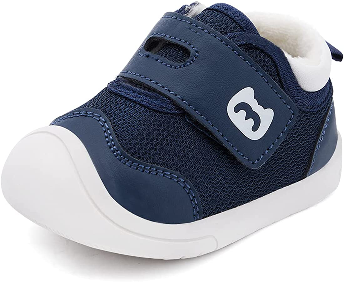 BMCiTYBM Baby Boy Girl Boots Winter Warm Shoes Lightweight Walking Sneakers Infant First Walkers 6 9 12 18 24 Months