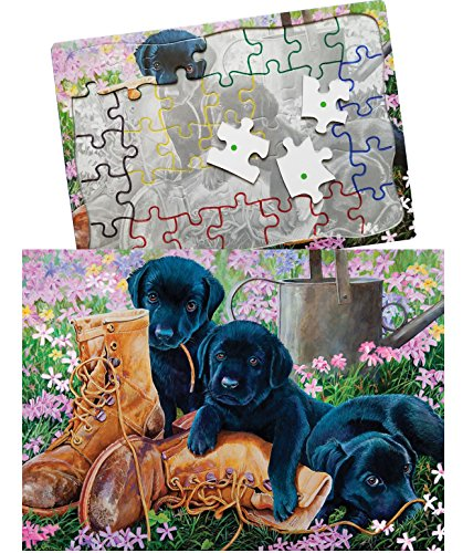 Keeping Busy Black Lab Puppies 35 Piece Sequenced Jigsaw Puzzle Engaging Activities/Puzzles/Games for Dementia and Alzheimers by Keeping Busy for Older Adults