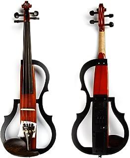 آلات موسیقی 4/4 ویولن برقی چوب سه رنگ سازهای موسیقی مناسب برای مبتدیان و آماتورهای موسیقی (قهوه ای)