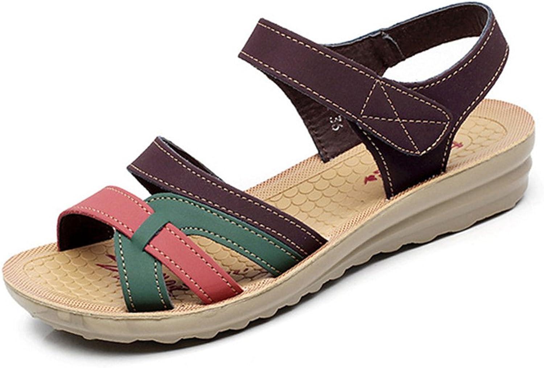 Giles Jones Flip Flops Flat Sandals for Women,Summer Casual Open Toe Non-Slip Elderly Beach shoes