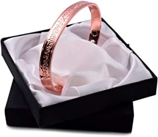 Origin Stunning Copper Magnetic Therapy Bracelet 6 Magnets with Unique Floral Design