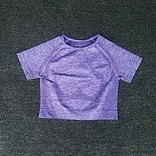 Beiziml Women Seamless Yoga Set Short Top Short Sleeve Shirt Fitness Shorts Workout Clothes for Women Sportswear Yoga Spor...