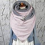 Berrd Chales cálidos Suaves para Mujer Botón con Estampado de Puntos de Primavera Bufandas Suaves Abrigo Chales cálidos Informales Sencillez Chales de Moda - 31,1