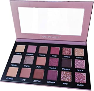18 Colors Nude Eye Shadow Palettes, YMH BEAUTE High Pigment Shimmer Glitter Matte Eyeshadow Palette Makeup Pallets Natural Rose Nude Eyeshadow Pallet Long Lasting Waterproof Cruelty-free, ATHENA