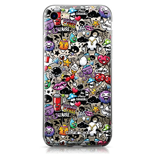 CASEiLIKE Custodia iPhone 7 cover, Graffito 2703 Disegno Ultra Sottile Paraurti TPU Caso Silicone per Apple iPhone 7