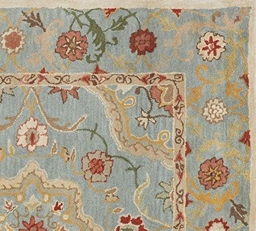 5x 8persa azul Leslie alfombra de lana hecho a mano tradicional persa Oriental alfombra de lana y alfombra