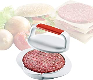 "mwellewm Burger Press Hamburger Press Patty Maker - 4 5/8"" Patty Press Burger Mold Ring for Make Burger Patties Cookery Mo..."