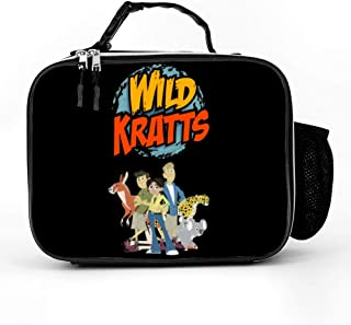 Wild Kratts Lunch Bag,Water-Resistant Cooler Pack Food Lunch Box For Men Women Girl Boy