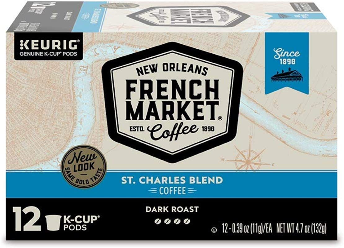 French Market Coffee Dark Roast Keurig K Cups 48 Count