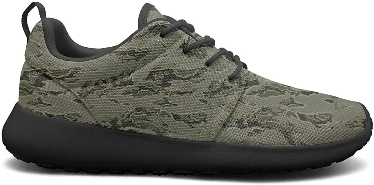 Wuixkas Camouflage Army Green Army Womens Lightweight Mesh Sneakers Comfortable Tennis shoes