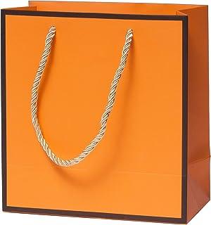 HuskyLove Luxury Gift Bag - Orange Gift Bags, for Wedding, Birthday, Anniversary, Christmas (Bag for Small)