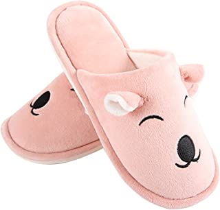 GaraTia Warm Indoor Slippers Women Fleece Plush Bedroom House Shoes Non Slip Winter Boots
