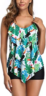 Traje de Baño en Dos Piezas Sexy Mujer Tankini Vest Short de Baño Traje para el Mar Playa Piscina Fiesta Vacaciones