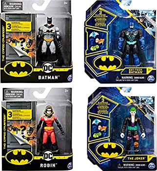 BATMAN 4-Inch Action Figure with 3 Mystery Accessories Mission 2