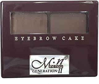 mn eyebrow cake make up with brush Dark brown and Brown