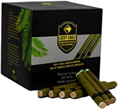 Lucky Eagle Blank 1 Gram Natural Pre Wrap Palm Leaf (220 Rolls)