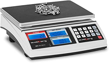 Steinberg Balance Compteuse SBS-ZW-3001H (30 kg / 1 g, plate-forme 26 x 21 cm, surface de pesée en métal et plastique, inc...