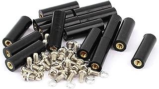 uxcell 15 Pcs M3 Brass Insert Thread 8x25mm Insulated Standoff Terminals