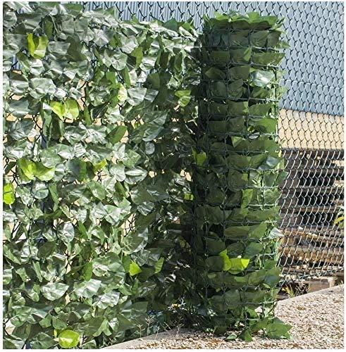 HSWYJJPFB Edera Finta per Recinzione Recinzioni Decorative per siepi di edera Artificiale per recinzioni da Giardino Schermo per la Privacy per Recinzione da giardinoFoglie Finte per Balcone