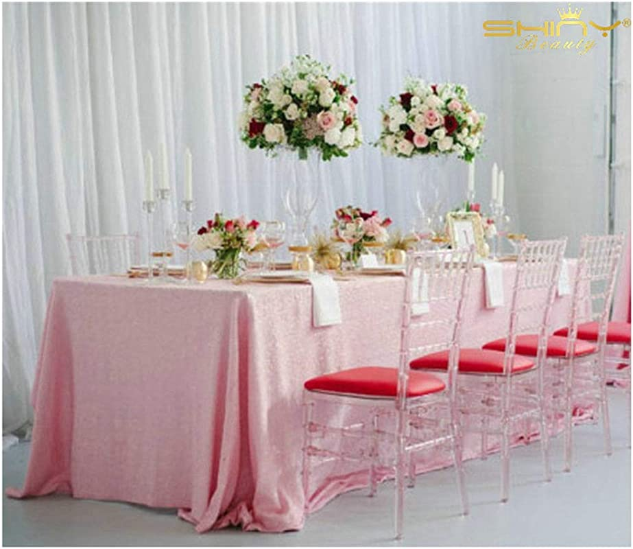 48x48 Inch Square Sequin Tablecloth Pink 2019 Sequin Table Cloth Overlay Cover Glitz Table Linen Baby Pink