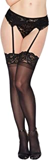 Women's Lace Top Sheer Thigh-High Stockings
