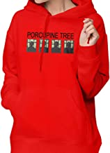Bfiapj Porcupine Tree Women Casual Sweater Pullover Knit Soft Warm Thick Crewneck Long Sleeve Hoodie White