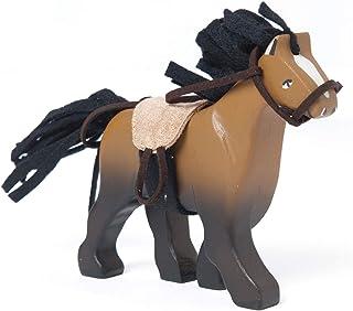 Budkins häst av trä, ridhäst brun