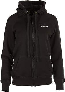 WINSHAPE Women's Street Style Sport Leisure Hoody Jacket, Womens, J003-SCHWARZ-XS, Black, XS