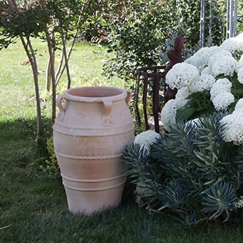 Amphore Méditerranée en céramique créta-céramique avec anse faite à la main en terre cuite véritable pour l'extérieur Décoration de jardin 60-90 cm 70 cm