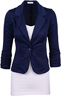 Analytical Notched Wear Female Suits Blazer Casual Slim Long Sleeve Single Button Blazers White Blue Work Formal Jackets Blazer Feminino Blazers