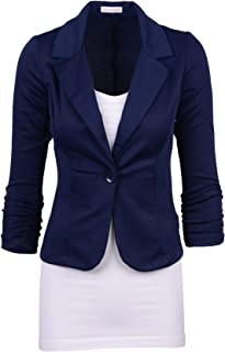 Women's Casual Work Solid Color Knit Blazer