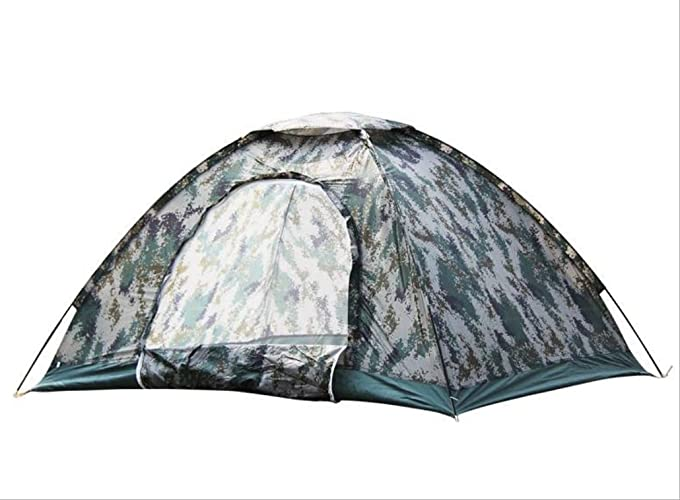 Tente de Loisirs en Plein air Tente de Camping Camouflage numérique Double Unique Tente Camp d'été zxcv