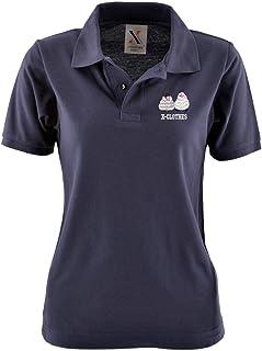 [X-CLOTHES] ポロシャツ 半袖 ビッグ ワンポイント 刺繍 グッズ レディース 服