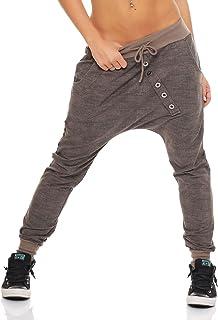 "5391979717f Malito Pantaloni Boyfriend en el ""Tejer"" Design Baggy Aladin Bombacho  Sudadera 7398 Mujer Talla"