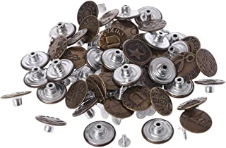 50pcs Mixed Style Metal No Sew Replacement Repair Jean Pants Buttons 20mm DIY Craft Accessories