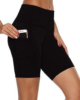 jonivey Yoga Shorts High Waist Out Pocket Workout Running Non See-Through Yoga Pants