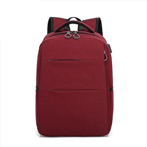 Business - Rucksack M er Schultern Trendy Travel Taschen Casual Schultaschen Einfach Mode, Computer Taschen Rot