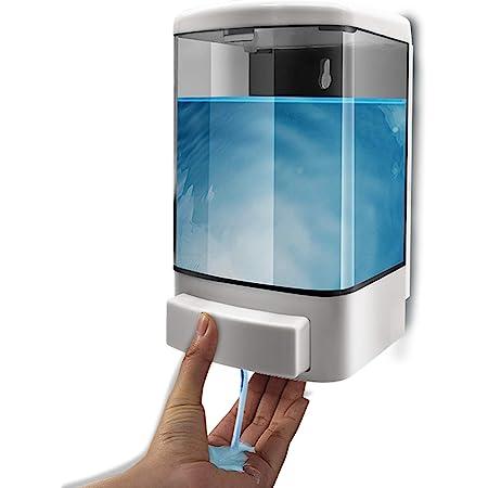 1000ML Distributeur de savon manuel Conditionneur en plastique pour shampooing mural Gel de douche Distributeur de chambre Pompe à savon pour salle de bain ou cuisine