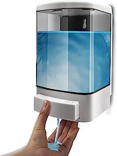 1000ML Distributeur de savon manuel Conditionneur en plastique pour shampooing mural Gel de douche Distributeur de chambre...
